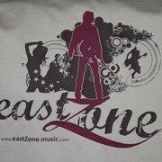 """Druckbeispiel: """"eastZone"""", Flexdruck,…"""