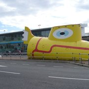 Yellow Submarine in front of Liverpool…