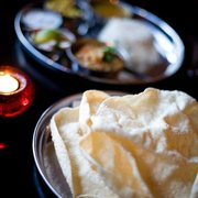 Poppadoms and Thali