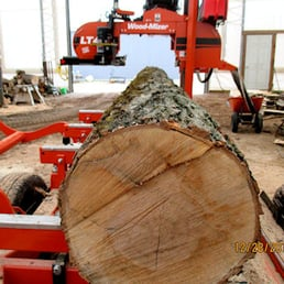 how to cut a log on a sawmill