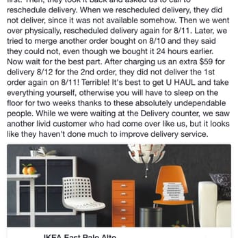 Ikea east palo alto ca united states review of ikea e for Ikea delivery phone number