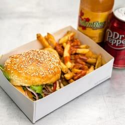 Veggie burger love.