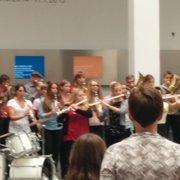 """Flashmob"" der Blaskapelle…"