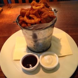 Bucket of curly fries and popcorn…