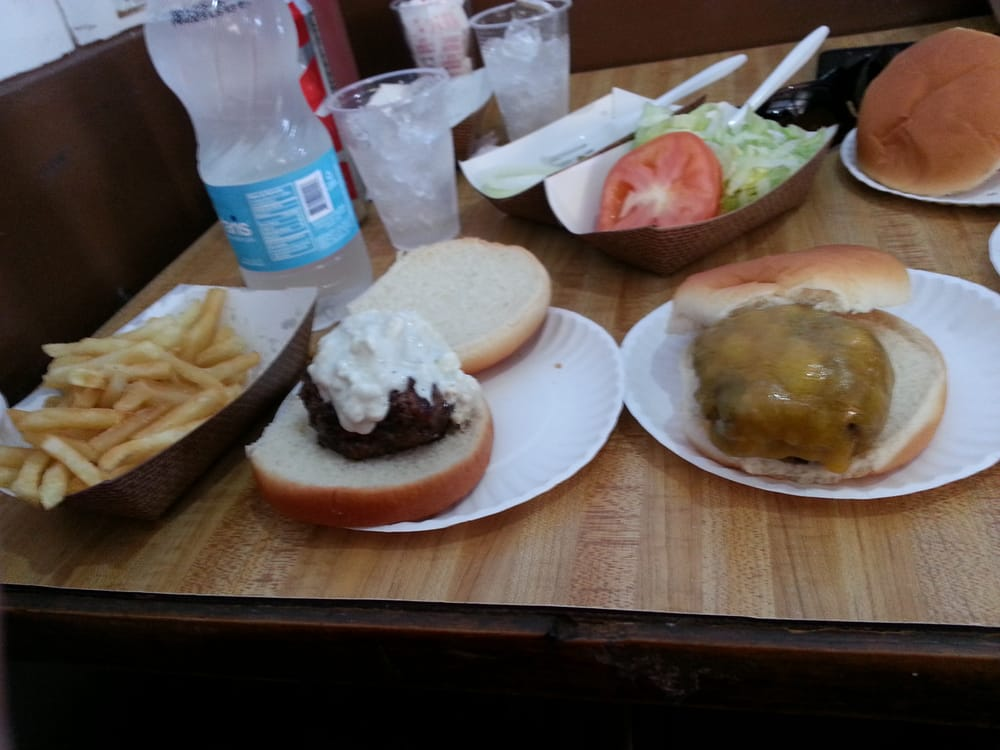 ... of fries (crispy and HOT), Roquefort burger and Cheddar burger. | Yelp