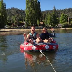 Big Bear Watersports School - On the Drifter Tube - Big Bear Lake, CA, Vereinigte Staaten