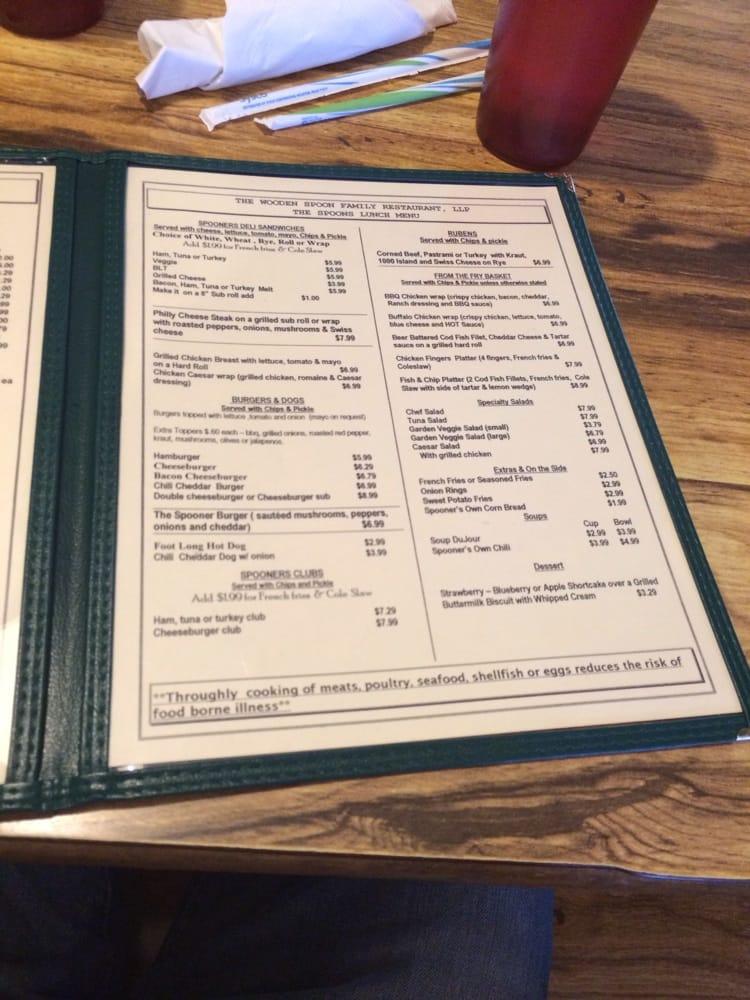 the wooden spoon menu 1