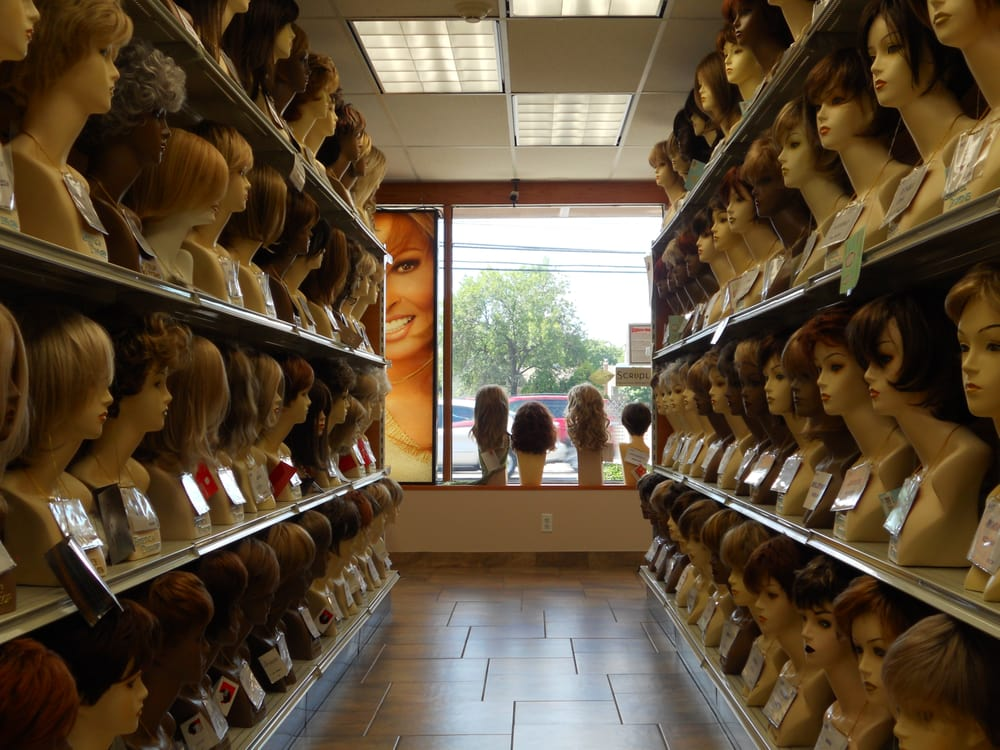 gregg s wig store has aisles of wigs to choose   private