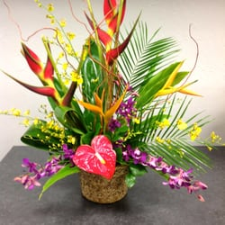 tropical flowers and wedding and phoenix