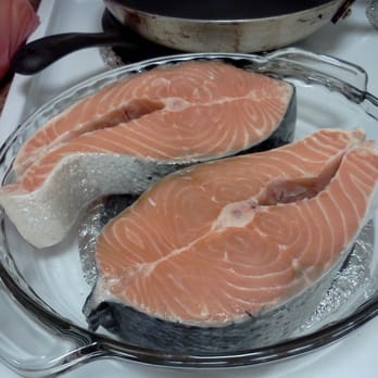 how to cook thick salmon steaks