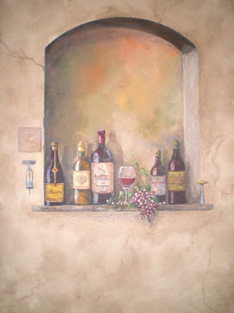 mural san antonio mural tuscan mural wine mural hand