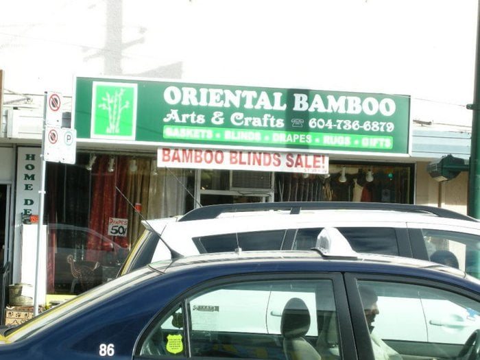Oriental bamboo arts crafts furniture shops for Oriental furniture vancouver