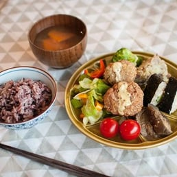 Macrobiotic Gluten croquette lunch