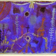"Paul Klee - ""Once Emerged from the Gray- of Night"" - (1918) - Watercolor on paper mounted on cardboard"