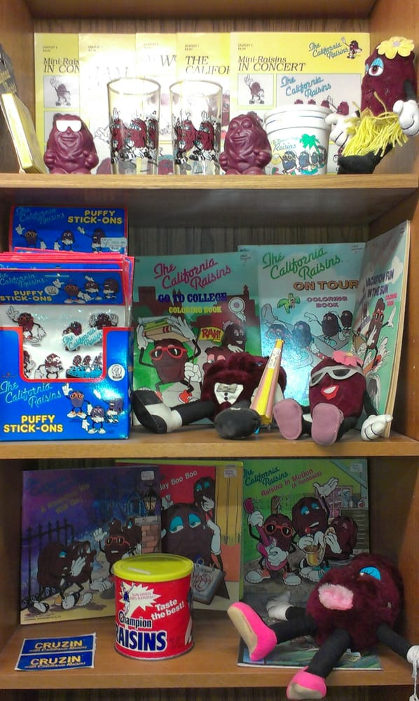 One of several California Raisins displays | Yelp