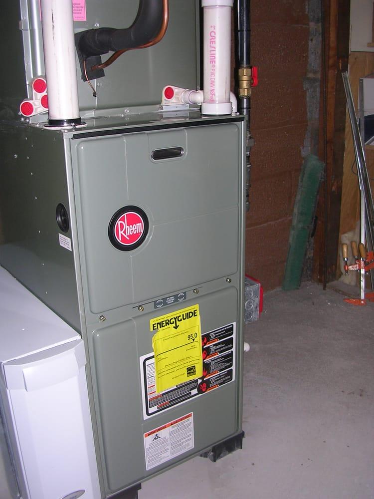Rheem 95 Upflow Warm Air Furnace With Aprilaire 2410