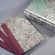 The Vespiary Book Restoration and Bindery - Boxed set of 3 handmade blank journals made using upcycled topographic maps. - Missoula, MT, Vereinigte Staaten