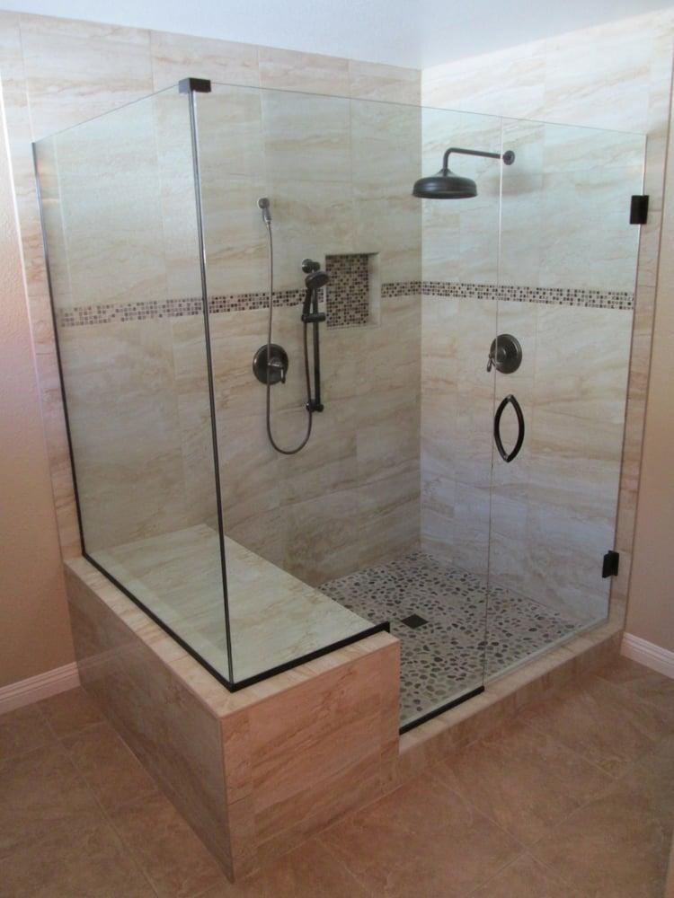 Master bathroom remodel standard tub converted into for Standard bathroom remodel
