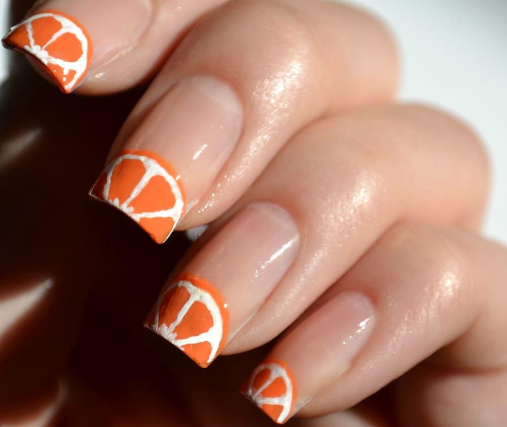 Дизайн ногтей Сочный апельсин МК Юлия Голубкова Идея 48