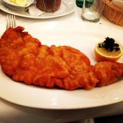 Original Wiener Schnitzel of veal.