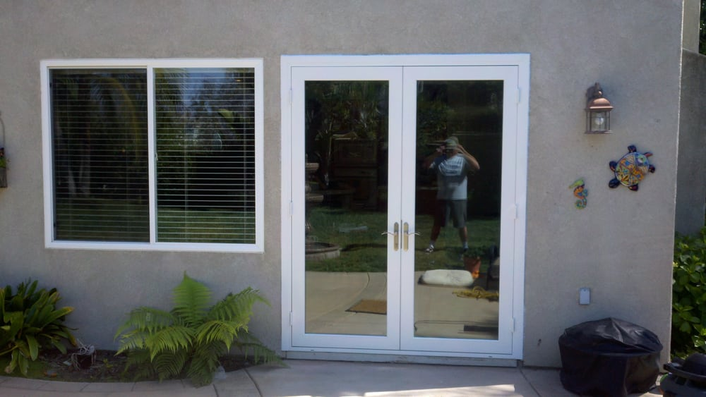 Dual pane vinyl 8 ft tall french swing door yelp - 8 foot tall interior french doors ...