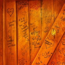 Hawley Arms was Amy Winehouse's old haunt. Graffiti on washroom door in AW's memory. RIP Amy.