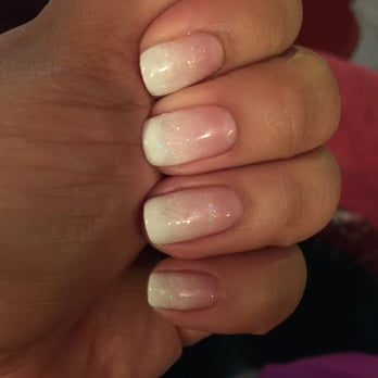 Faded french manicure gel