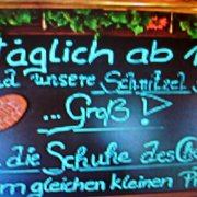 Schnitzel Werbung.
