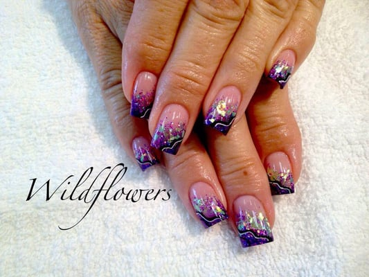 Acrylic Nails with encapsulated Mylar - Cape Coral, FL, United States