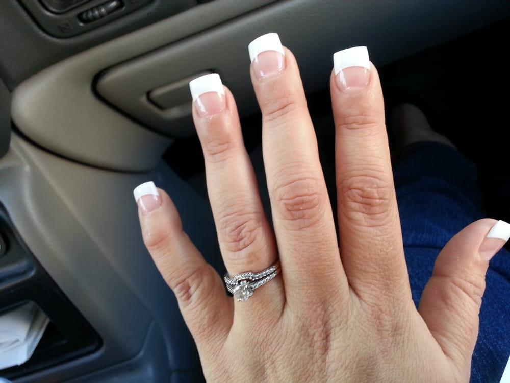Long white tip acrylic nails – Great photo blog about manicure 2017