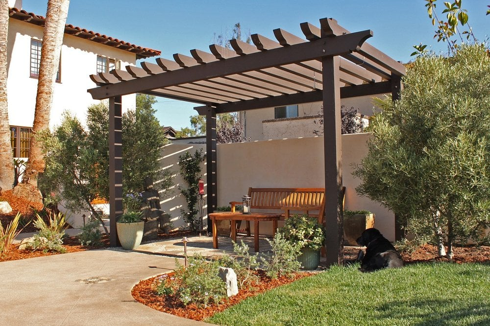 Wood Pergola Or Trellis Seating Area Yelp