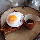 THE duck and waffle with mustard syrup....the BEST thing I ate in London.