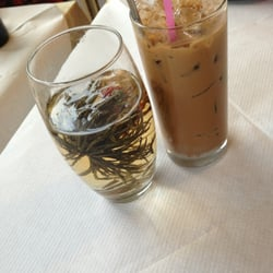 Flowering tea and Viet coffee