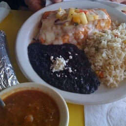 Curra's Grill - Austin, TX, États-Unis. Blackened Fish Enchiladas - Absolutely fabulous!
