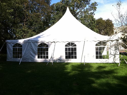 Tents, Inc.  Wakefield, MA, United States. 40x40 High Peak Pole Tent