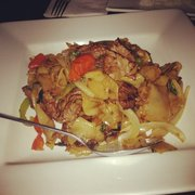 Ginger Thai Cuisine - Drunken Noodles with beef! Best Thai dish I've ever had! - West Hills, CA, Vereinigte Staaten