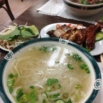 ... Ga Nuong Vi Huong: five spice chicken with chicken noodle soup, $8.85