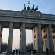 sunny winter mood at Brandenburg Gate…