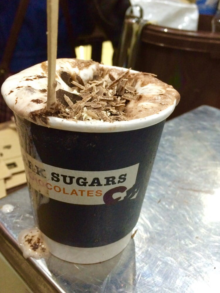 Dark Sugars - Who doesn't want hot chocolate with a pile of freshly shaved chocolate on top? - London, United Kingdom