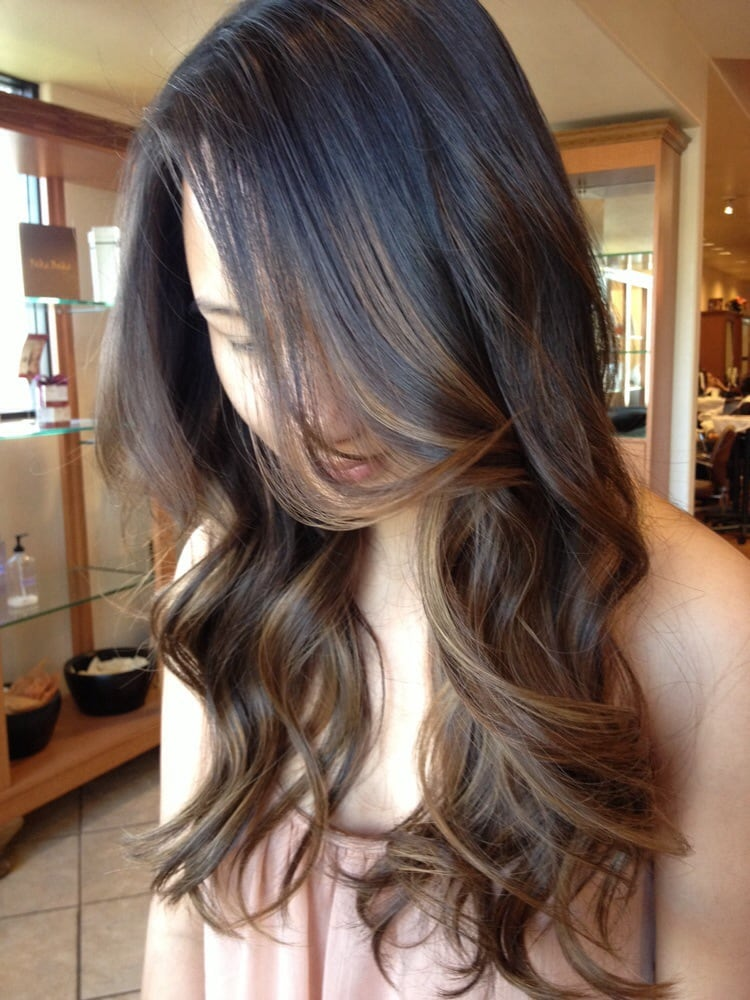 the gallery for subtle balayage dark hair. Black Bedroom Furniture Sets. Home Design Ideas