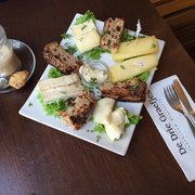 Cheese plate with nut bread! Yum!!!