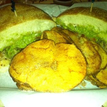 La Torta Cafe - Carnitas torta and house made potato chips/fries! - La ...