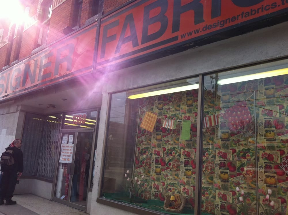 Designer fabrics fabric stores parkdale toronto on for Fabric outlet near me