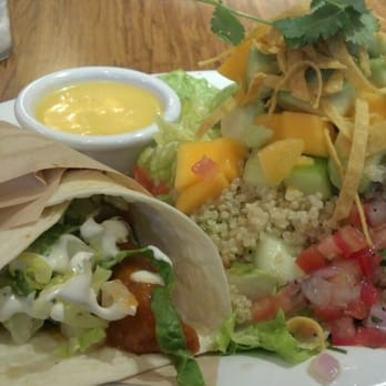 Veggie Grill - Pick-a-pair. Buffalo chicken mini-wrap and baja fiesta ...