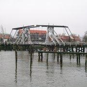 Wiecker Brücke Holzklappbrücke, Greifswald, Mecklenburg-Vorpommern