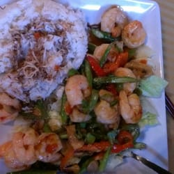 Zen Wok Fusion - thai spicy shrimp w/coconut rice - Fresno, CA, United ...