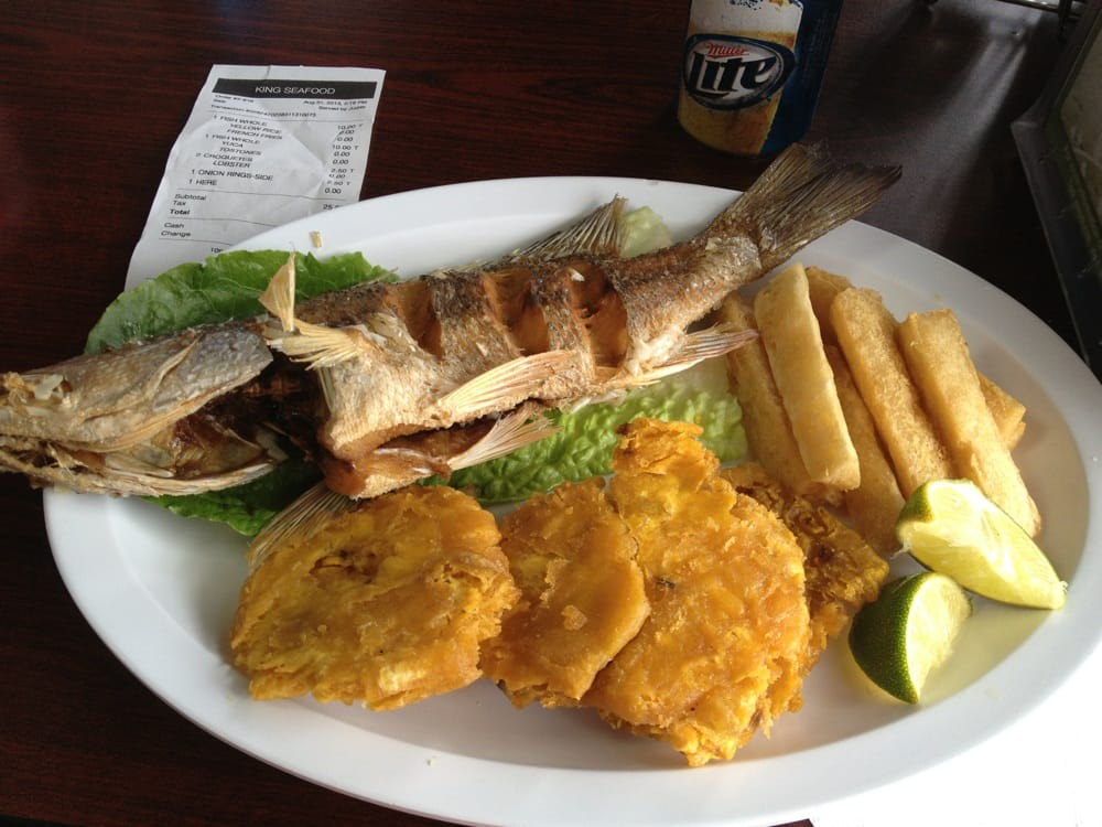Whole snapper with tostones fried yuca yelp for King fish market