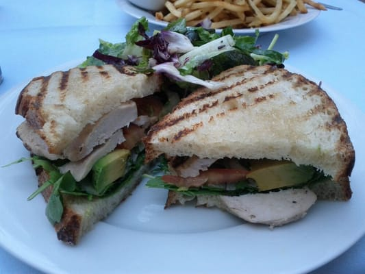 Ammo - Grilled chicken breast sandwich on sourdough bread with avocado ...