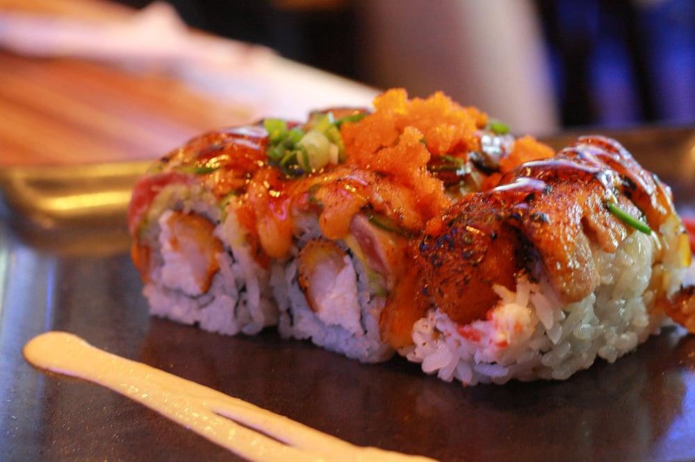 ... Roll (Eel, panko shrimp, seared tuna, avocado, crab mix, jalapenos