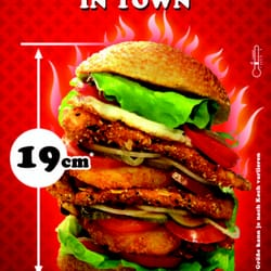 19cm Crispy Chicken Tower Burger